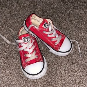 Toddler Red Converse size 7